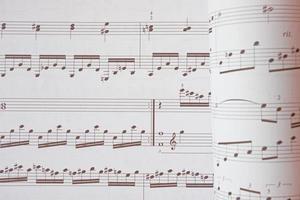 primo piano di note musicali