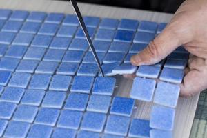 fabbricazione di tessere di mosaico