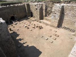 rovine di parione dell'antica città foto