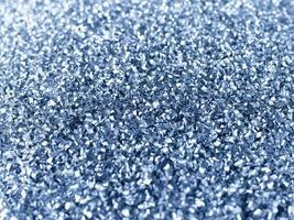 trucioli di alluminio raccolti per il riciclaggio foto