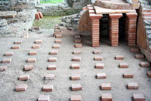 pavimento romano di un bagnio foto