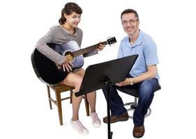 lezioni di musica con la chitarra foto