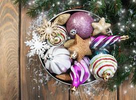 palline di decorazioni natalizie foto