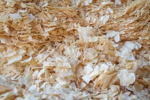segatura o polvere di legno, sfondo astratto foto