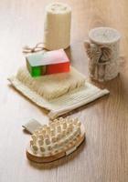 accessori da bagno con candela foto