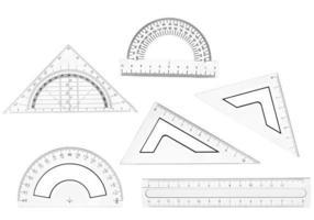 righello di plastica matematica educazione scolastica geometria foto