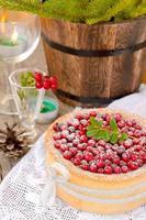 torta di mirtilli rossi