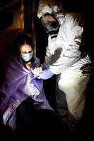 paziente ebola foto