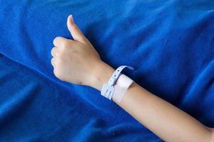 braccio del paziente foto