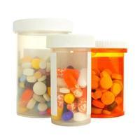 bottiglie di medicina foto