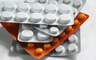 medicina, blister, tablet, foto