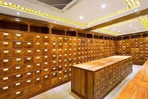 vecchio negozio di medicina cinese foto
