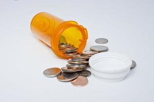 bottiglia di prescrizione sanitaria foto