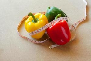 frutta, verdura, perdita di peso e assistenza sanitaria. foto
