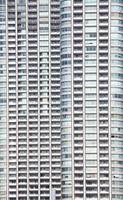 perfetto edificio aziendale in vetro blu foto