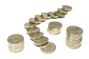 monete da una sterlina foto