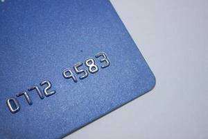 vecchia carta di credito foto