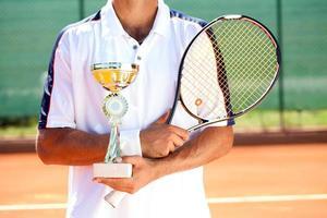 vincitore del tennis foto
