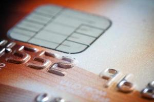 primo piano della carta di credito foto