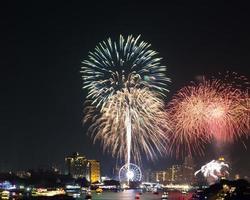 fuochi d'artificio colorati foto