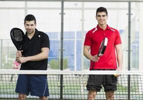 giocatori di paddle tennis foto