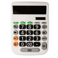 calcolatrice su uno sfondo bianco foto