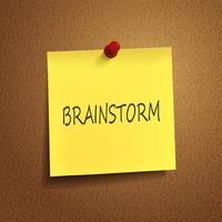 brainstorming parola sul post-it foto