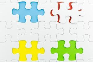 uso del puzzle per lo sfondo di affari foto