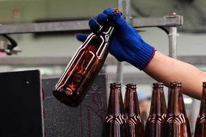 industria delle bottiglie foto