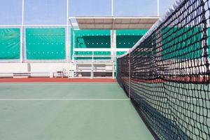 rete da tennis del primo piano foto