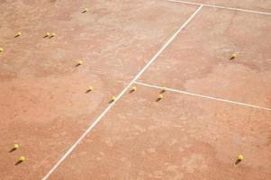 palline da tennis vista dall'alto foto