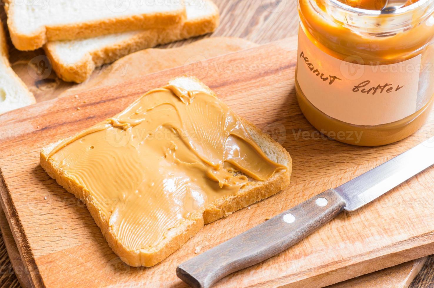 sanduíche com manteiga de amendoim foto