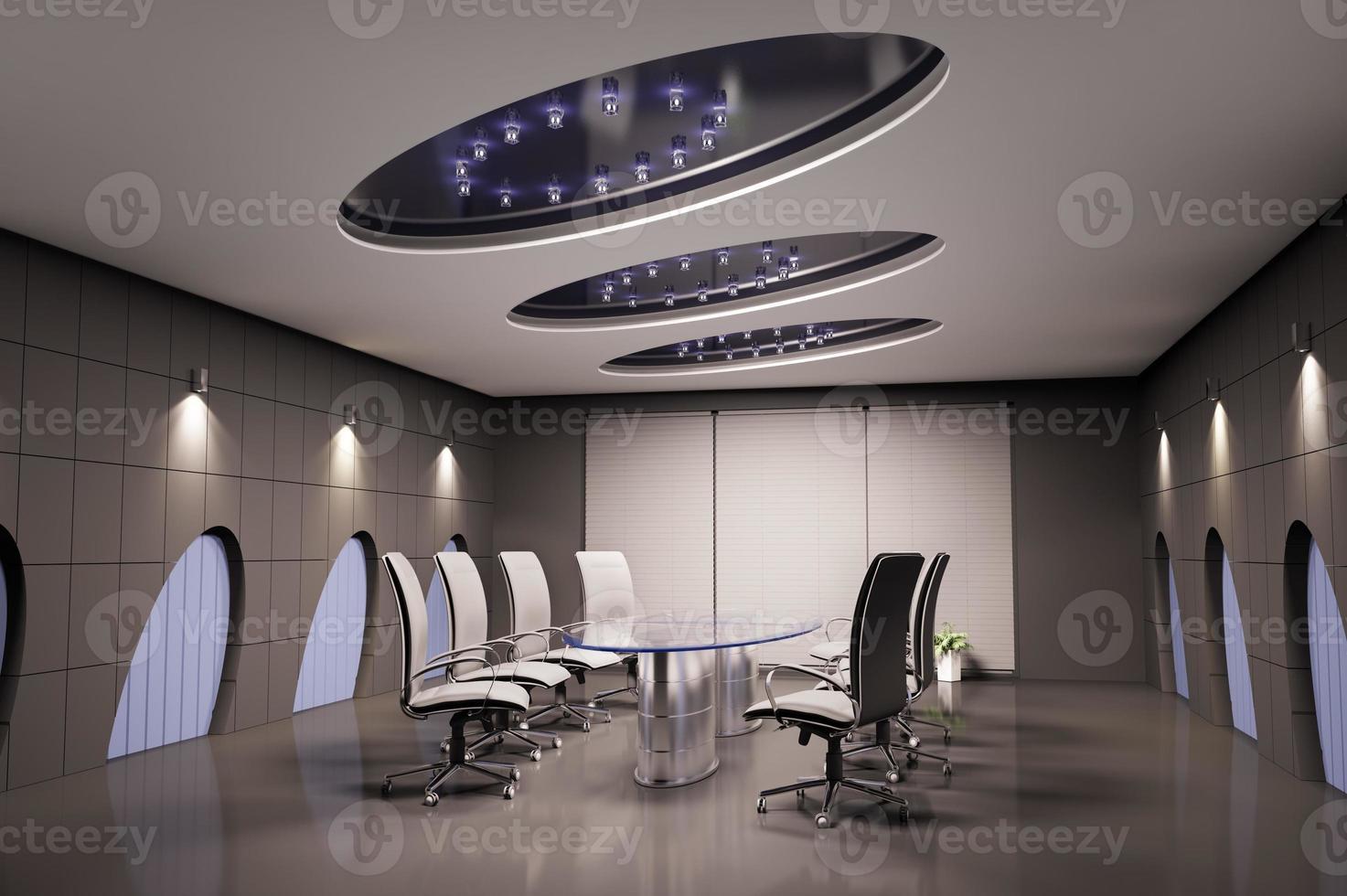 sala de conferências 3d foto