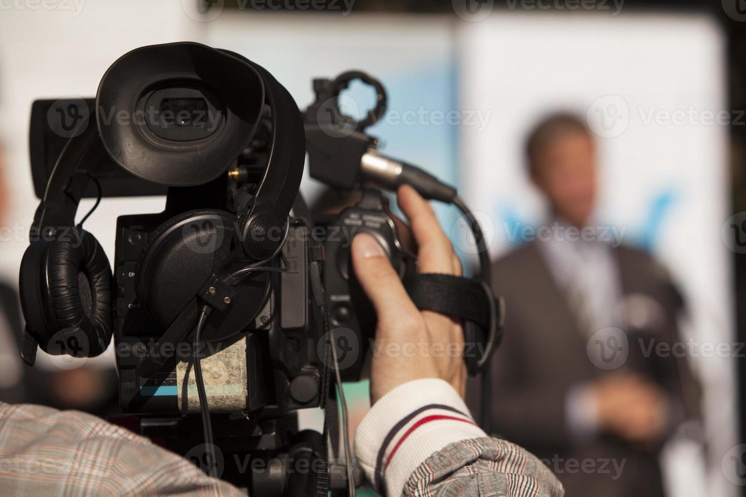 cobrindo um evento com uma câmera de vídeo foto