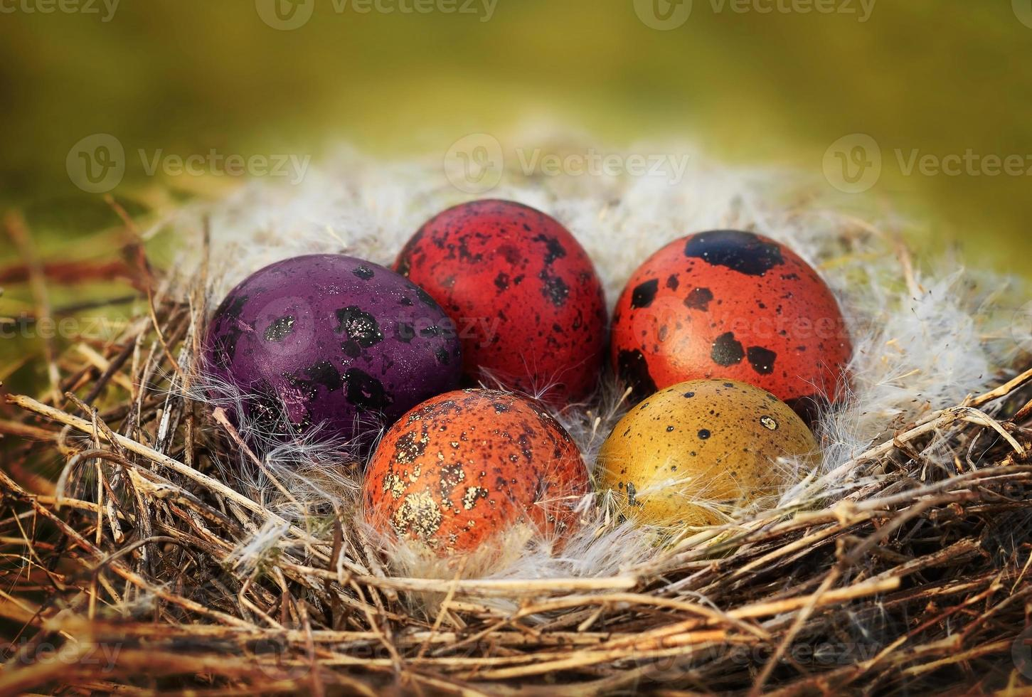 cesta de ovos de páscoa foto