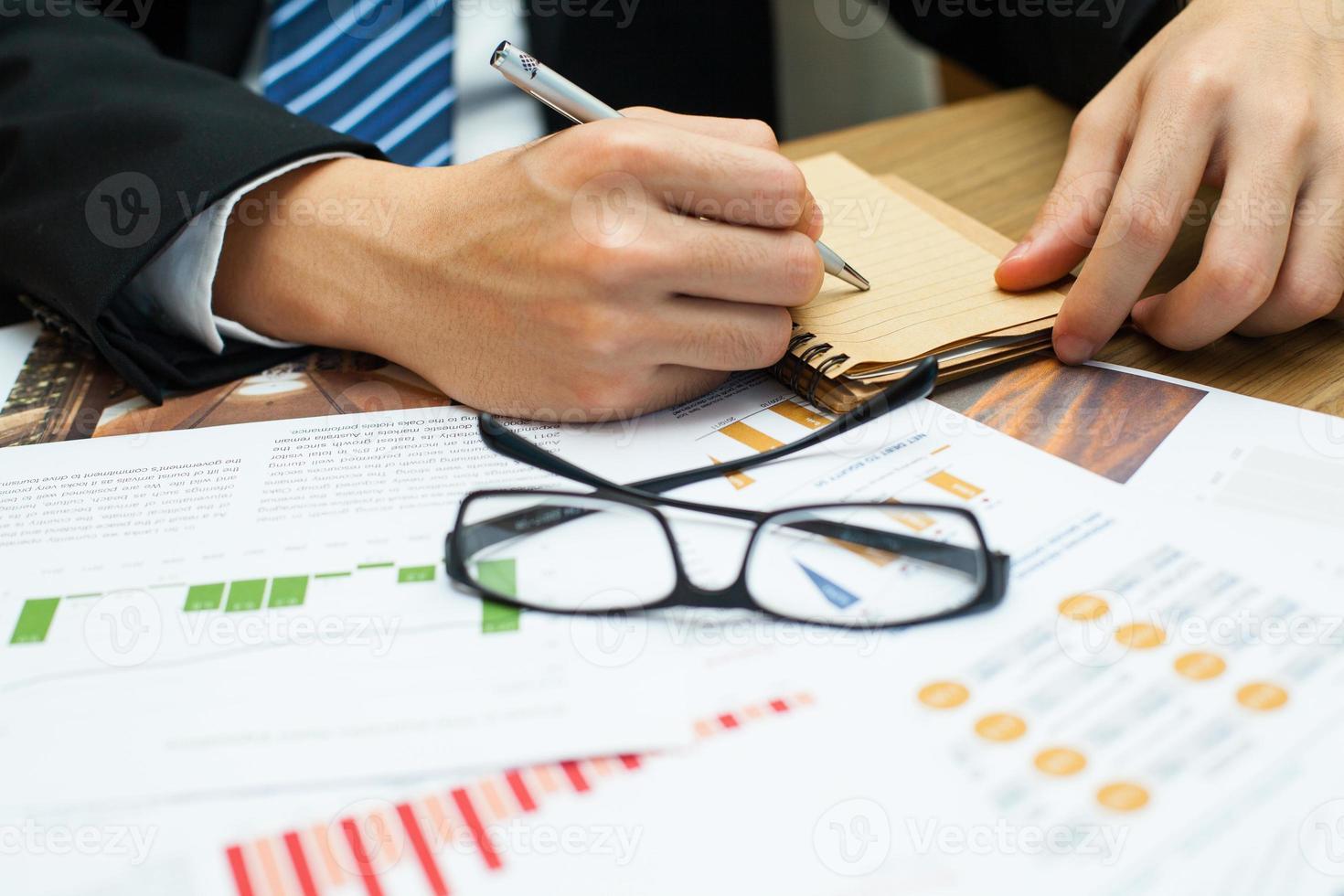 anotação de empresário. foto
