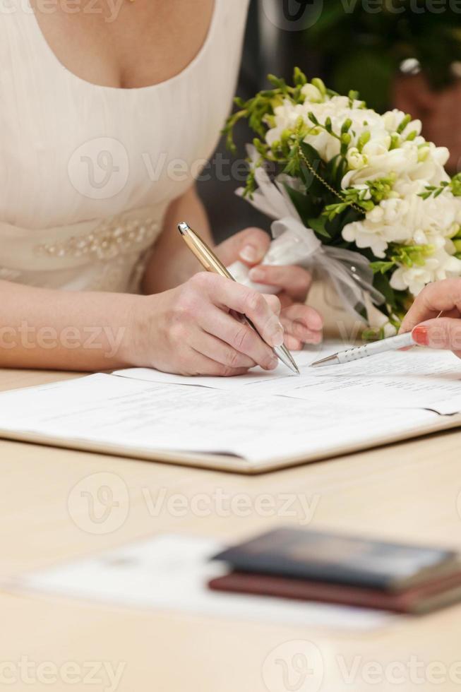 sinal de noiva foto