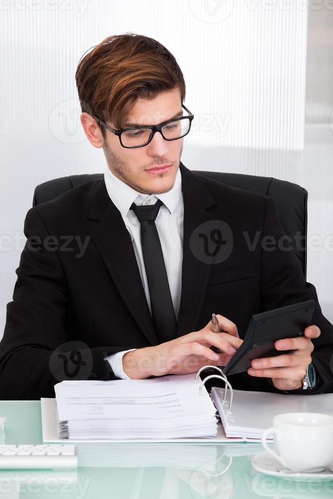 contas calculadoras de empresário foto