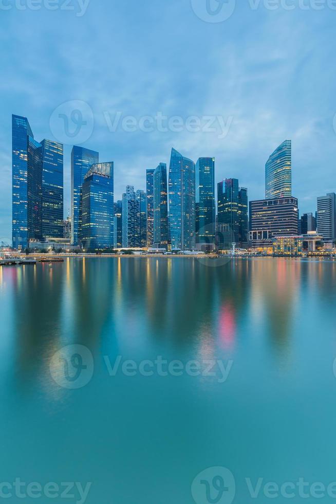 paisagem urbana no distrito empresarial de marina bay foto