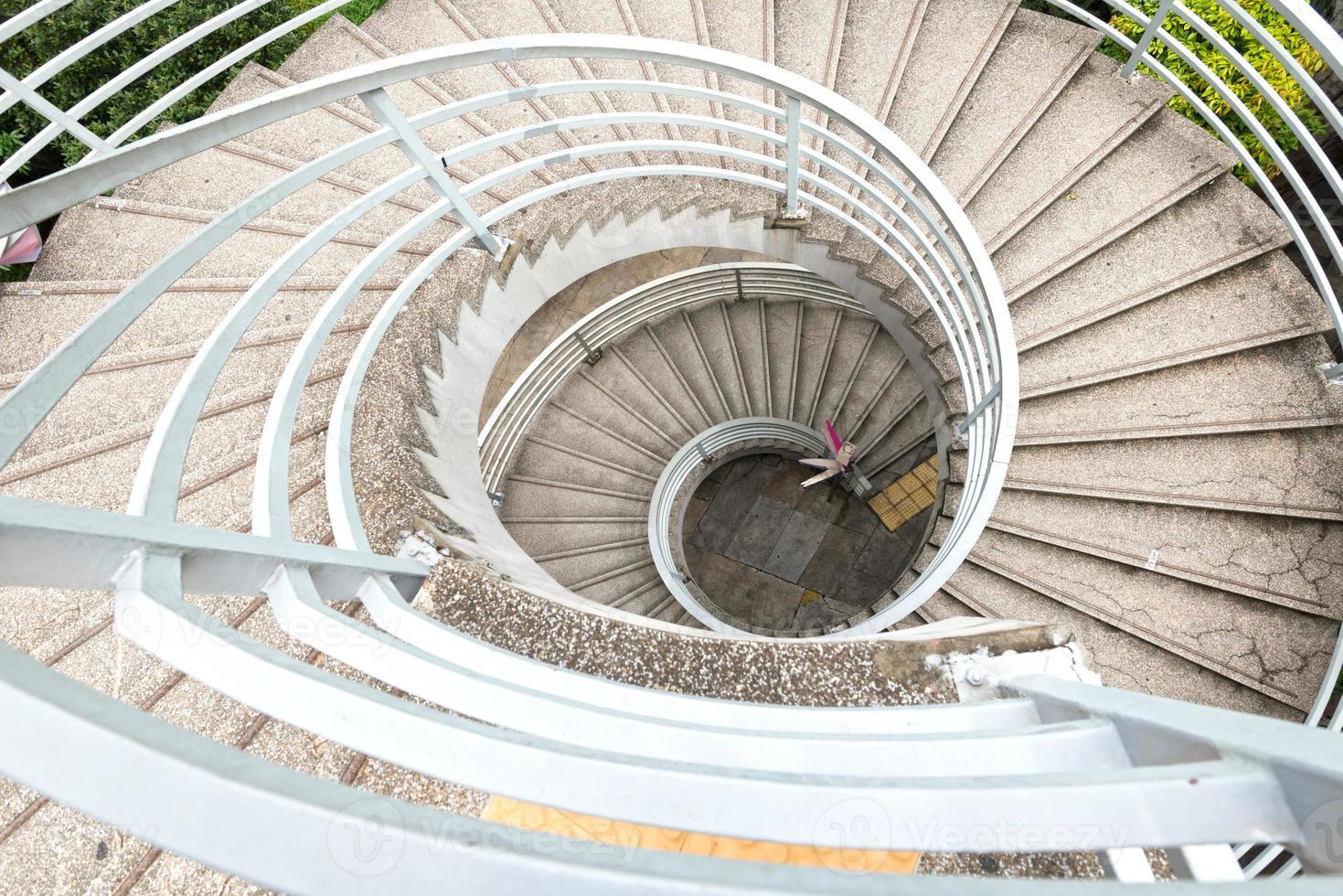 Escadas em espiral foto