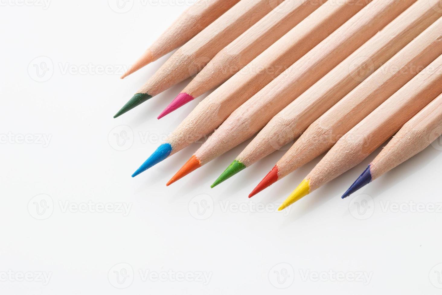 lápis colorido foto