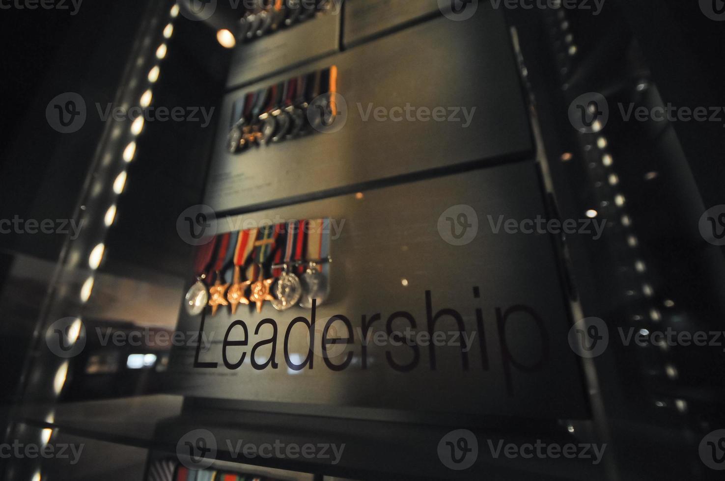 liderança e medalhas de honra foto
