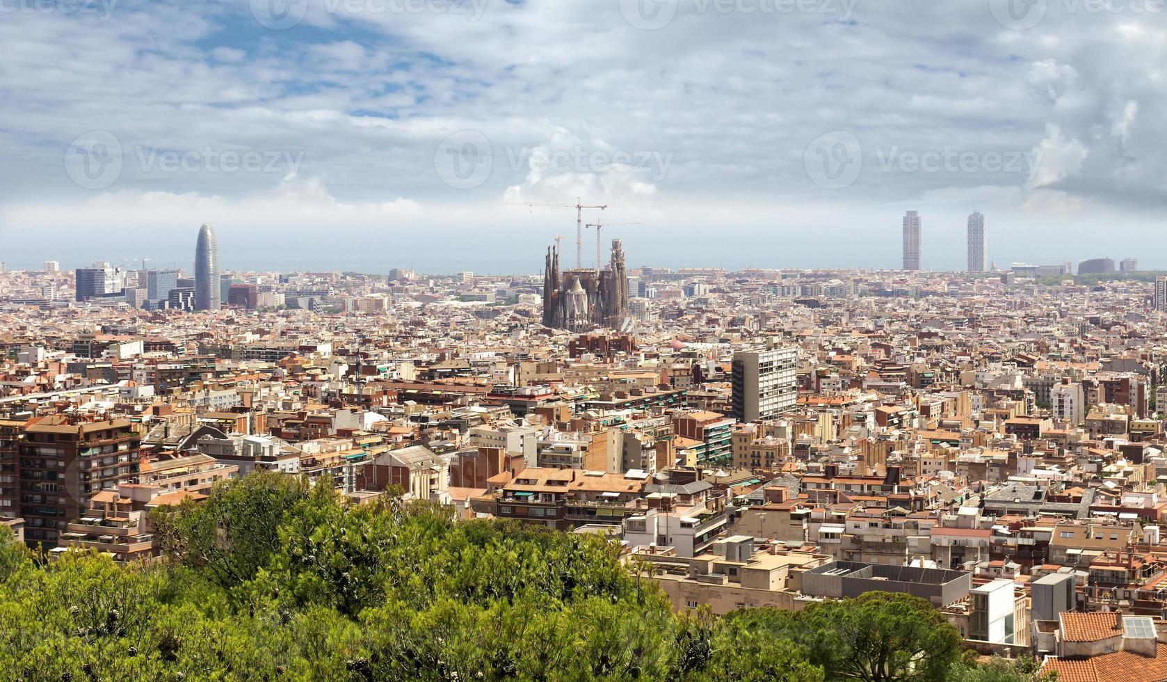 vista panorâmica de barcelona foto