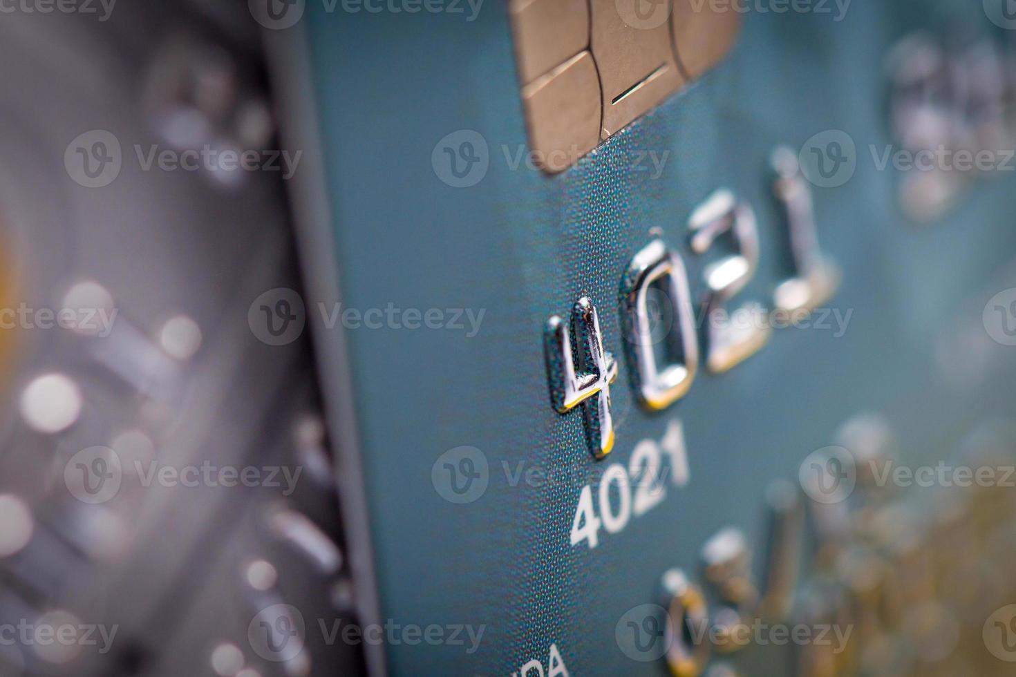 close-up do cartão de crédito foto