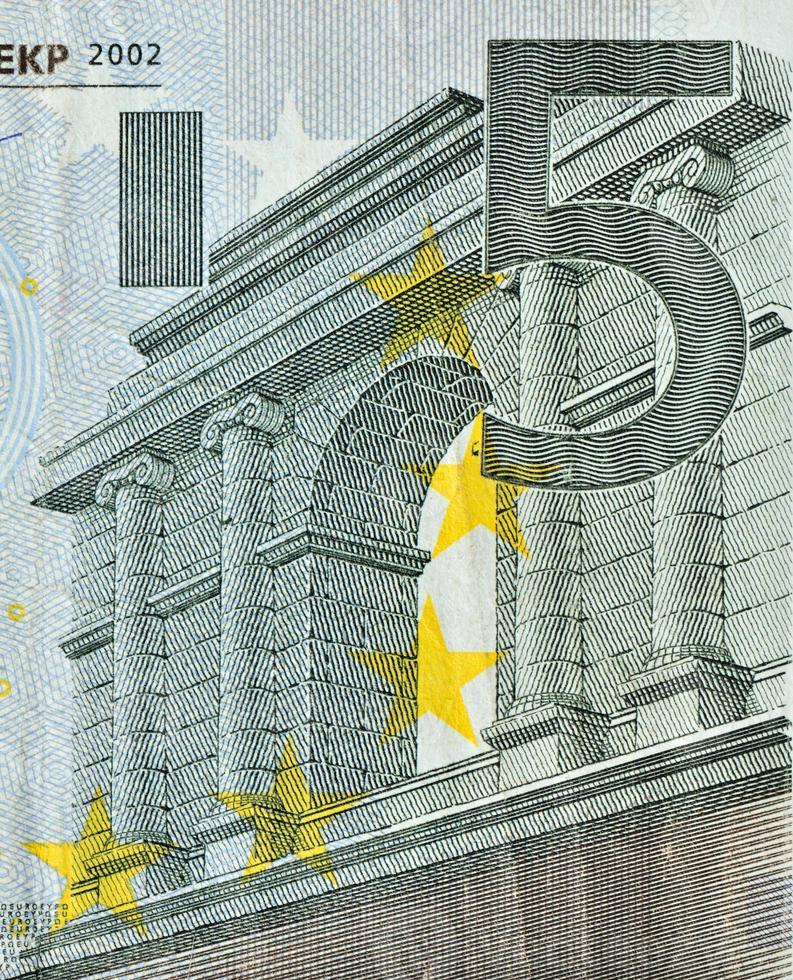 olhar mais atento da nota de euro com valor nominal de 50 foto