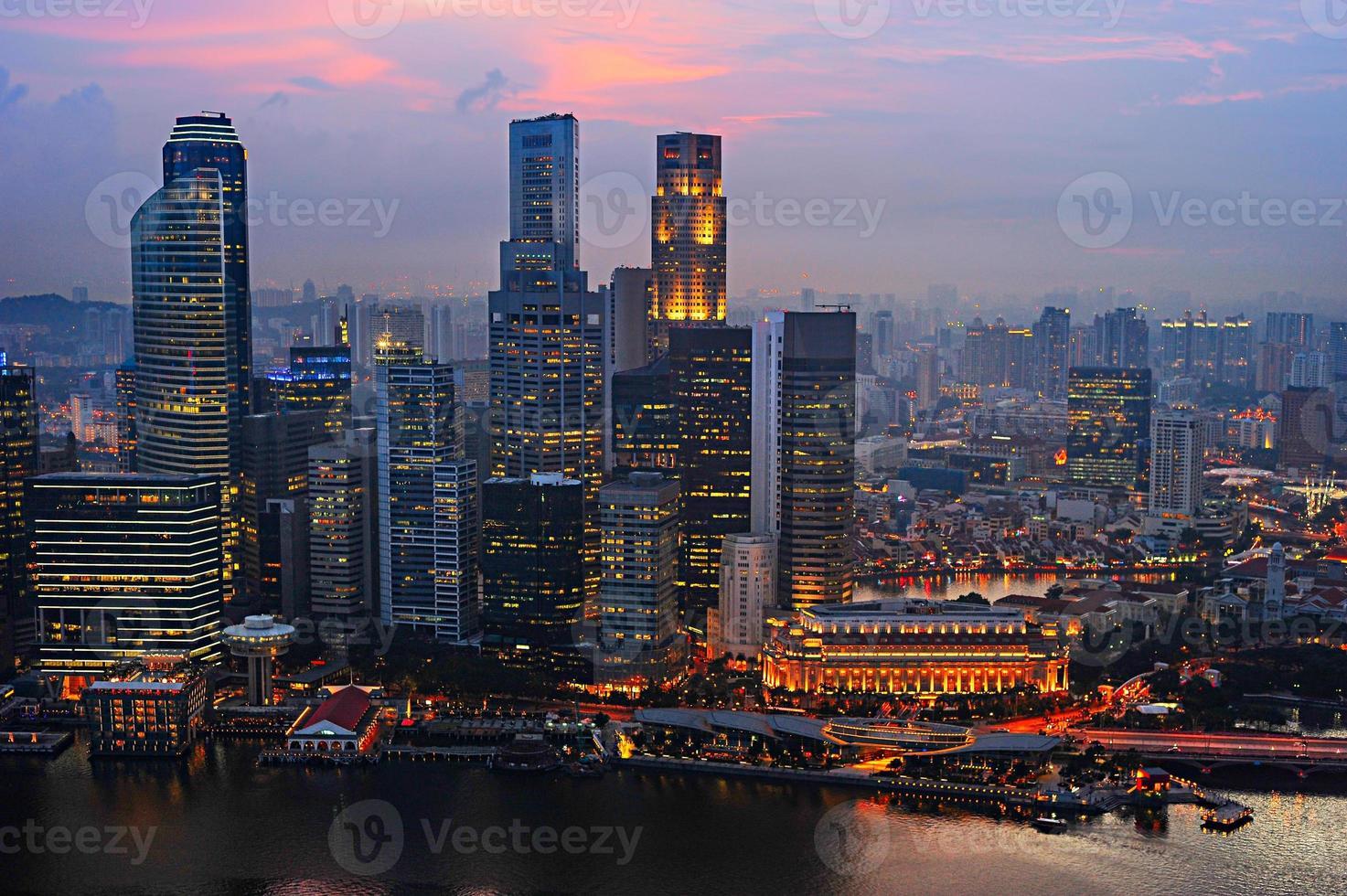 centro de negócios de cingapura foto