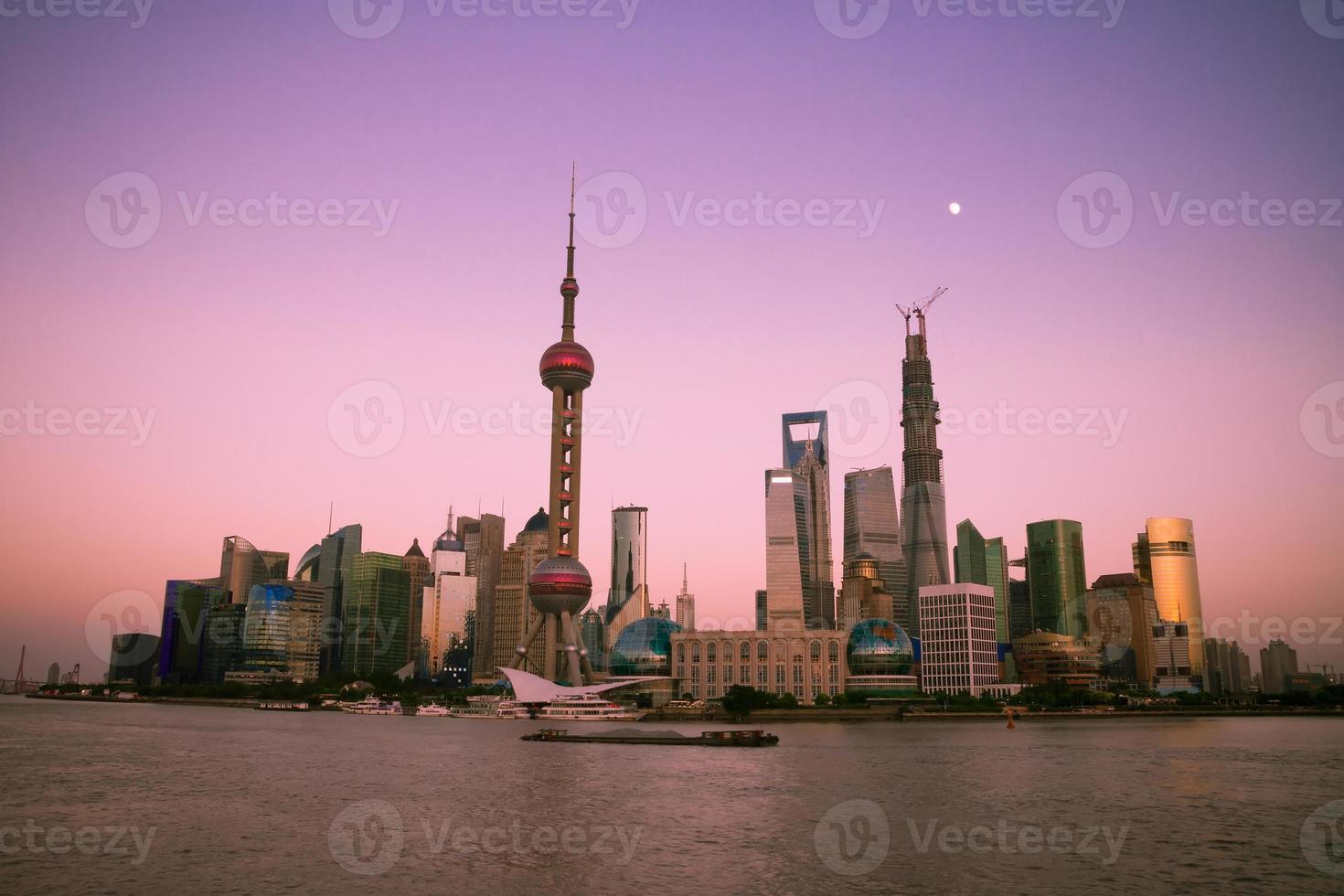 paisagem urbana de xangai, china foto