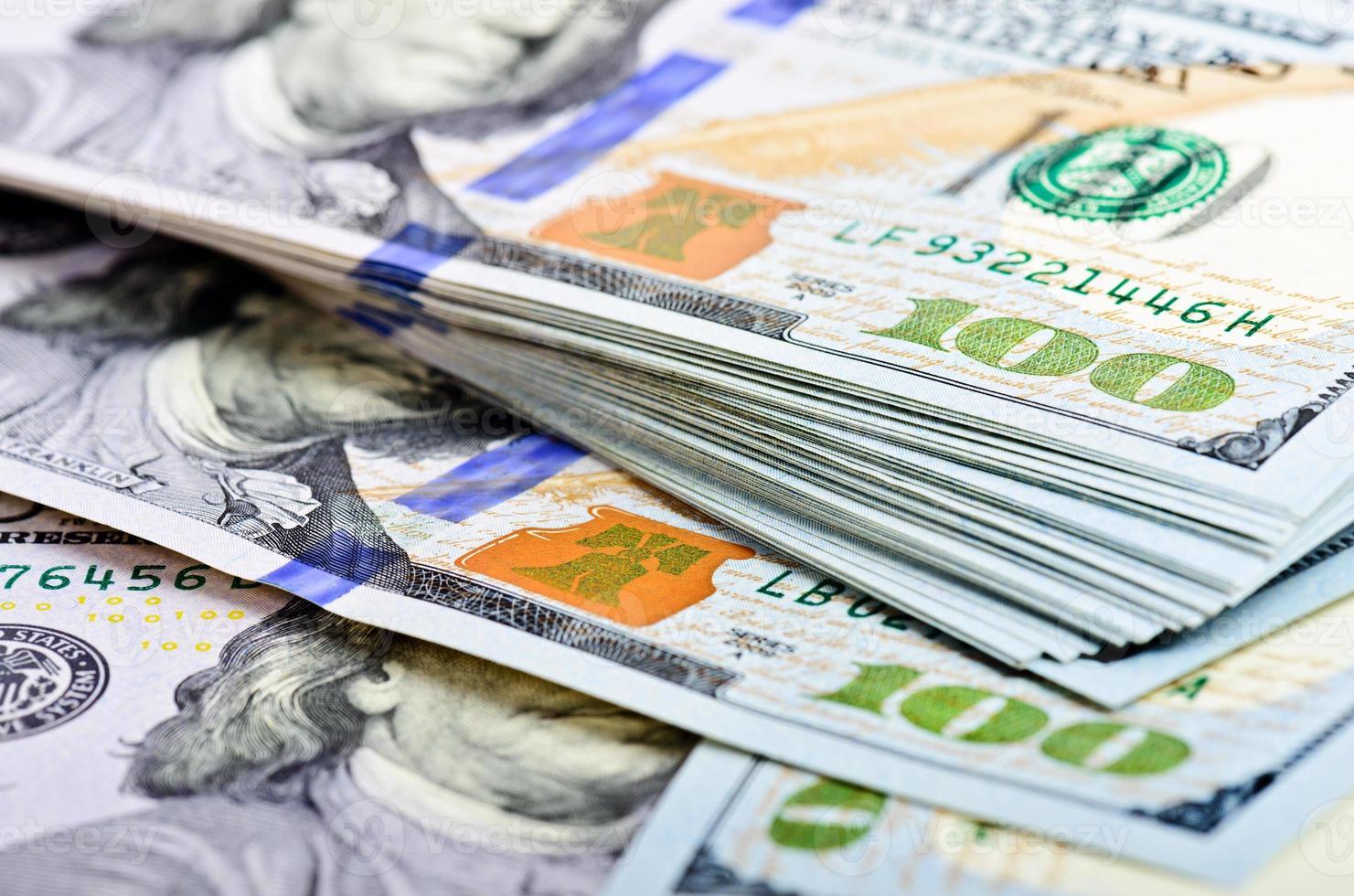 fundo de notas de dólar foto