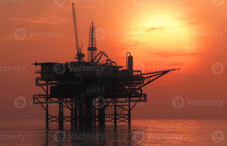 plataforma de petróleo foto