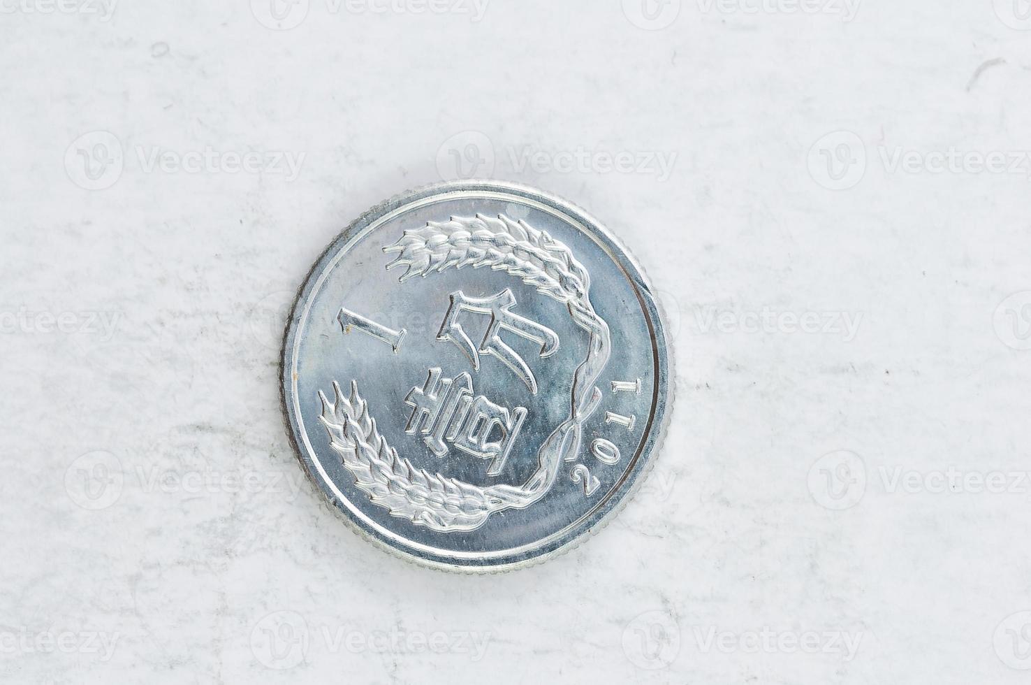 1 yi jiao moeda chinesa prata alu foto